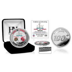 Kansas City Chiefs Super Bowl 54 Victory Silver Color Coin