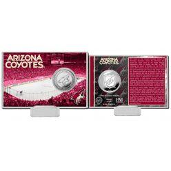 Arizona Coyotes History Silver Coin Card