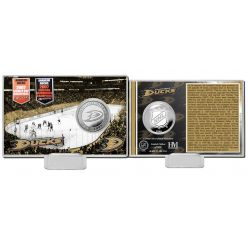 Anaheim Ducks History Silver Coin Card