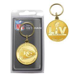 Kansas City Chiefs 2020 AFC Champions Bronze Mint Coin Keychain