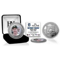 Al Kaline Baseball Hall of Fame Silver Color Coin