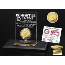 Alabama Crimson Tide 18-Time National Champions Gold Coin Acrylic
