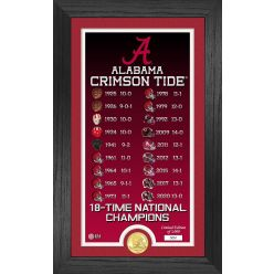 Alabama Crimson Tide 18-Time National Champions Legacy Bronze Coin Photo Mint