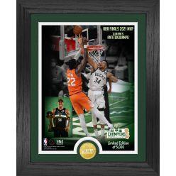 Milwaukee Bucks 2021 NBA Finals MVP Bronze Coin Photo Mint