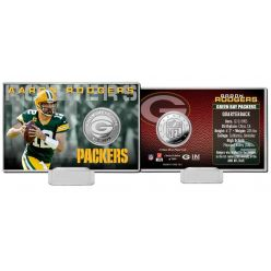Aaron Rodgers 2020 Silver Mint Coin Card