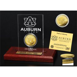 Auburn University National Champions Gold Coin Etched Acrylic