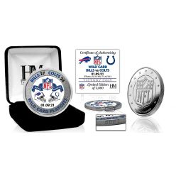 Buffalo Bills 2020/21 AFC Wild Card Game Victory Silver Mint Coin
