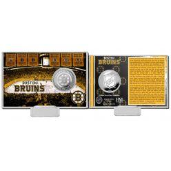 Boston Bruins History Silver Coin Card