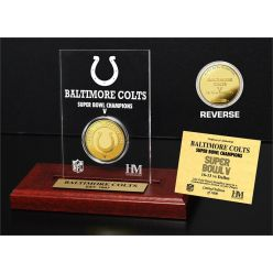 Baltimore Colts Super Bowl Champions Gold Coin with Acrylic Display