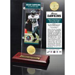 Brian Dawkins 2018 Pro Football HOF Induction Ticket & Bronze Coin Acrylic Desk Top