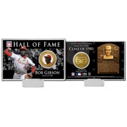 Bob Gibson Class of 1983 Hall of Fame Bronze Coin Card