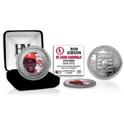 Bob Gibson Baseball Hall of Fame Silver Color Coin