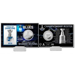 St. Louis Blues 2019 Stanley Cup Banner Raising Silver Coin Card