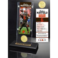 Baker Mayfield Ticket & Bronze Coin Acrylic Desk Top