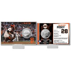 Buster Posey Silver Coin Card