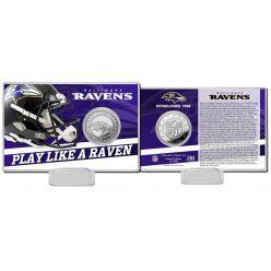 Baltimore Ravens 2020 Team History Coin Card