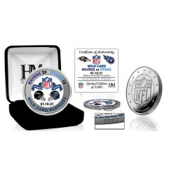 Baltimore Ravens 2020/21 AFC Wild Card Game Victory Silver Mint Coin
