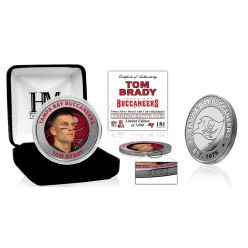 Tom Brady Tampa Bay Buccaneers Color Silver Coin