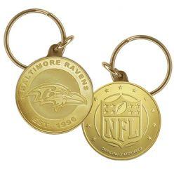 Baltimore Ravens Bronze Keychain