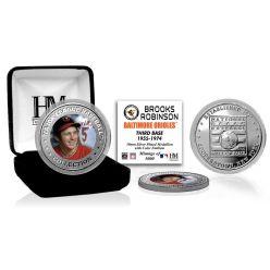 Brooks Robinson Baseball Hall of Fame Silver Color Coin