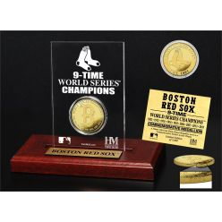Boston Red Sox 9-time World Series Champions Gold Coin Etched Acrylic