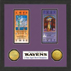 Baltimore Ravens 2-Time Super Bowl Championship Ticket Collection