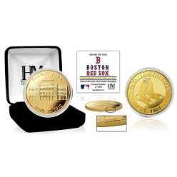 """Boston Red Sox """"Stadium"""" Gold Mint Coin"""