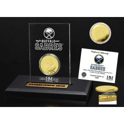 Buffalo Sabres Gold Coin Etched Acrylic