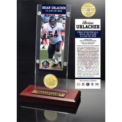 Brian Urlacher 2018 Pro Football HOF Induction Ticket & Bronze Coin Acrylic Desk Top