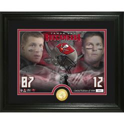 Brady and Gronkowski Tampa Bay Buccaneers Bronze Coin Photo Mint