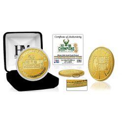 Milwaukee Bucks 2021 NBA Finals Champions Gold Mint Coin