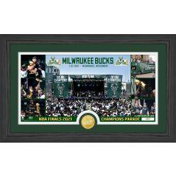 Milwaukee Bucks 2021 NBA Champions Parade Pano Photo Mint