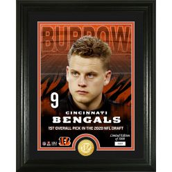 Joe Burrow Cincinnati Bengals 2020 NFL Draft Bronze Coin Photo Mint