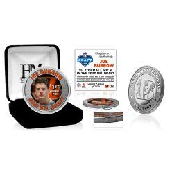 Joe Burrow 2020 NFL Draft 1st Round Silver Coin