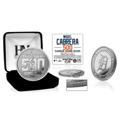 Miguel Cabrera 500th Career HR Silver Mint Coin