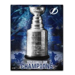 Tampa Bay Lightning 2021 Stanley Cup Champions 16x20 Stretch Canvas