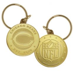Chicago Bears Bronze Keychain