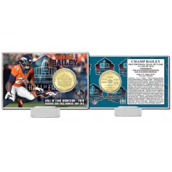 Champ Bailey Hall of Fame 2019 Bronze Mint Coin Card