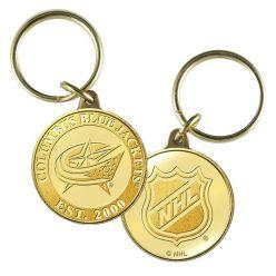 Columbus Blue Jackets Bronze Team Keychain