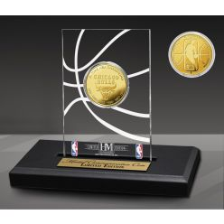 Chicago Bulls 6-Time Gold Coin Acrylic Desk Top