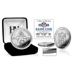 Cleveland Browns 2021 75th Anniversary Silver Game Coin