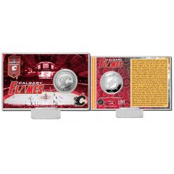 Calgary Flames History Silver Coin Card