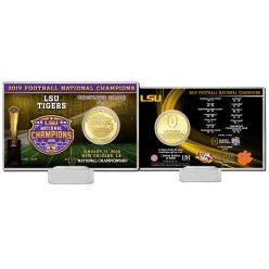 Louisiana State University 2019 Football National Champions Bronze Coin Card