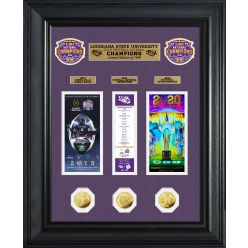 Louisiana State University 2019 Football National Champions Deluxe Gold Coin Ticket Collection