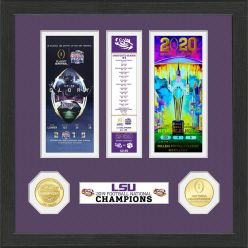 Louisiana State University 2019 Football National Champions Ticket Collection