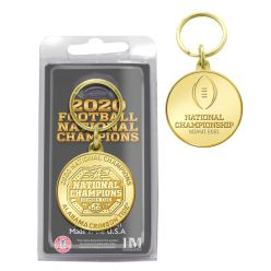 Alabama Crimson Tide 2020/21 Football National Champions Bronze Coin Keychain
