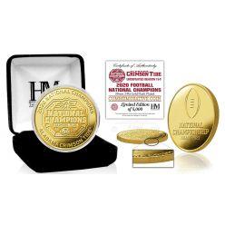 Alabama Crimson Tide 2020/21 Football National Champions Gold Mint Coin
