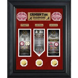 Alabama Crimson Tide 2020/21 Football National Champions Deluxe Gold Coin Road to The Championship Photo Mint