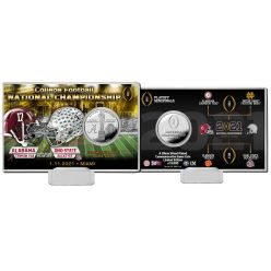 Alabama vs Ohio State 2020 Football National Championship Bronze Coin Card