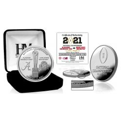 Alabama vs Ohio State 2020 Football National Championship Silver Dueling Coin